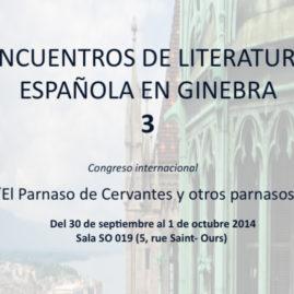 Congreso Internacional «El Parnaso de Cervantes y otros parnasos»