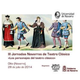 III Jornadas Navarras de Teatro Clásico «Los personajes del teatro clásico»