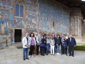 Visita al monasterio de Voronet.